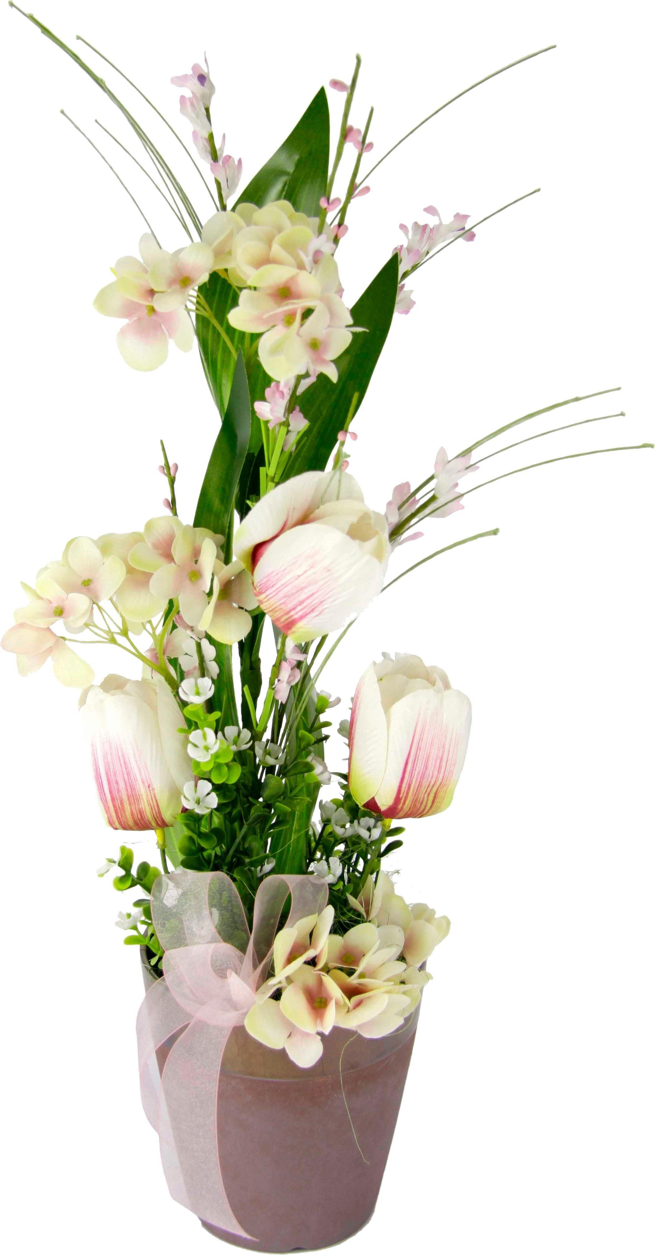 Kunstblume Tulpen im Topf, Höhe 46 cm,