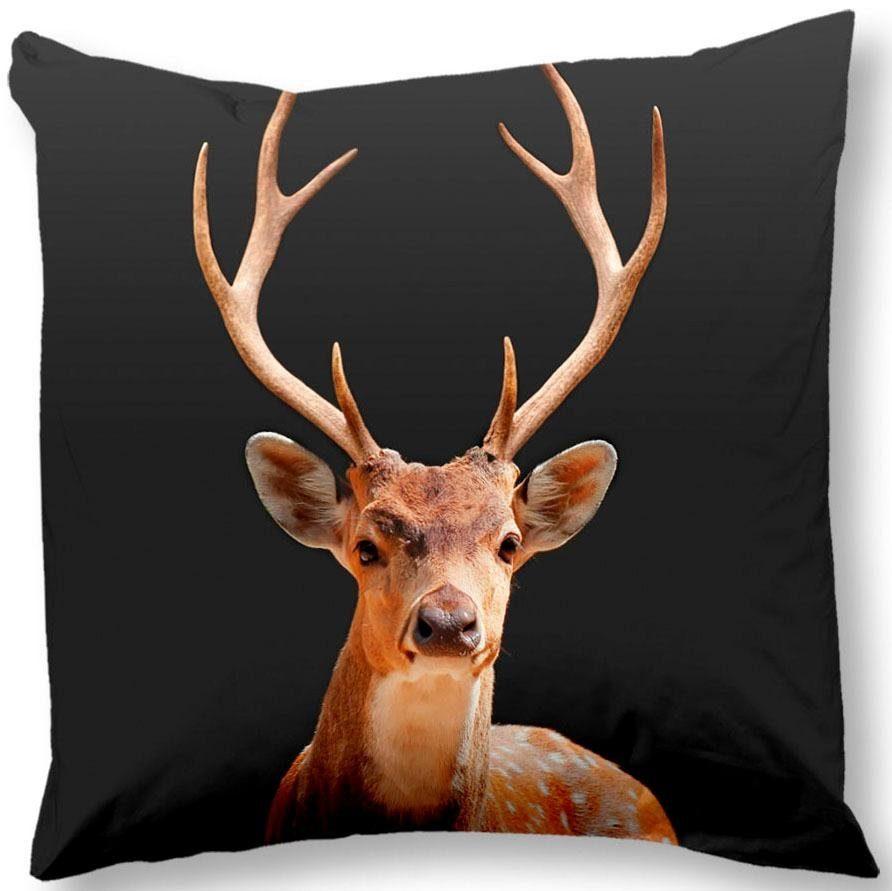 Kissenhülle »Deer«, good morning, mit Hirsch motiv