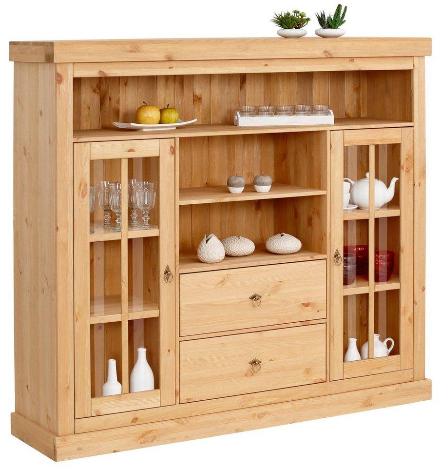 home affaire highboard gizella aus massiver kiefer 160. Black Bedroom Furniture Sets. Home Design Ideas