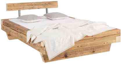 Premium Collection by Home affaire Bett »Kaya« aus recyceltem antiken Holz in 3 Größen.