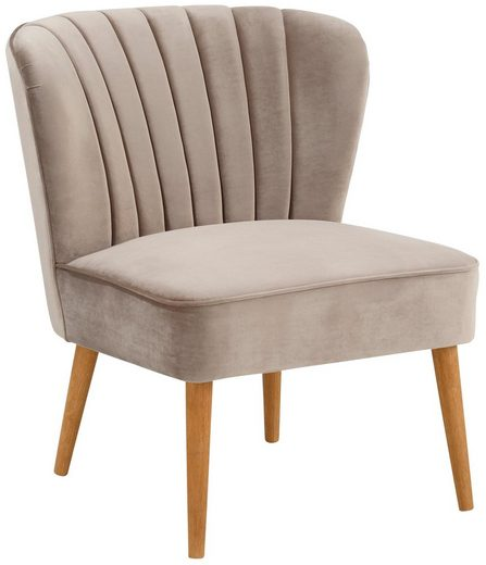 Home affaire Sessel »Narmada«  in drei verschiedenen Farben  mit schöner Raffung in der Rückenlehne  aus weichen Samt Chenille Stoff