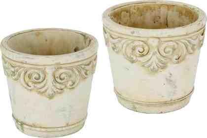 Home Affaire Keramik-Übertopf mit Ornamenten (2er Set)