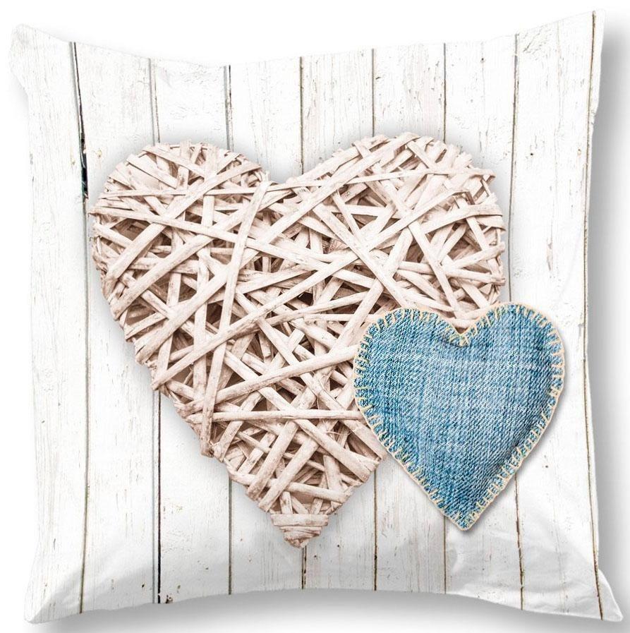 Kissenhülle »Home«, , mit Herz