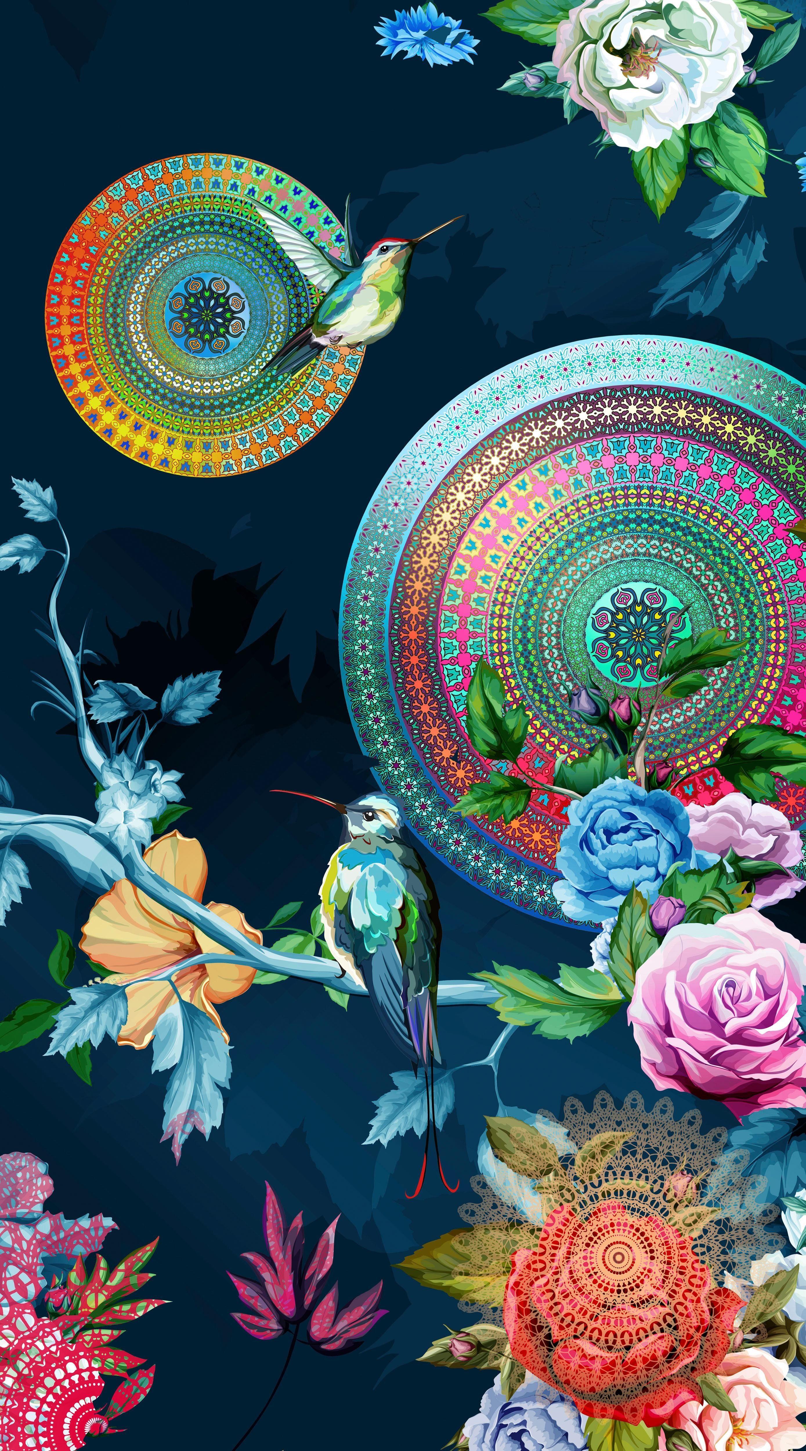 Strandtuch »Chachou«, hip, mit Blumenranken