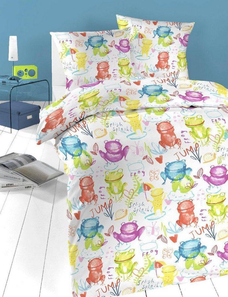 Kinderbettwäsche Froschi Schlafgut Mit Niedlichen Frosch Motiv