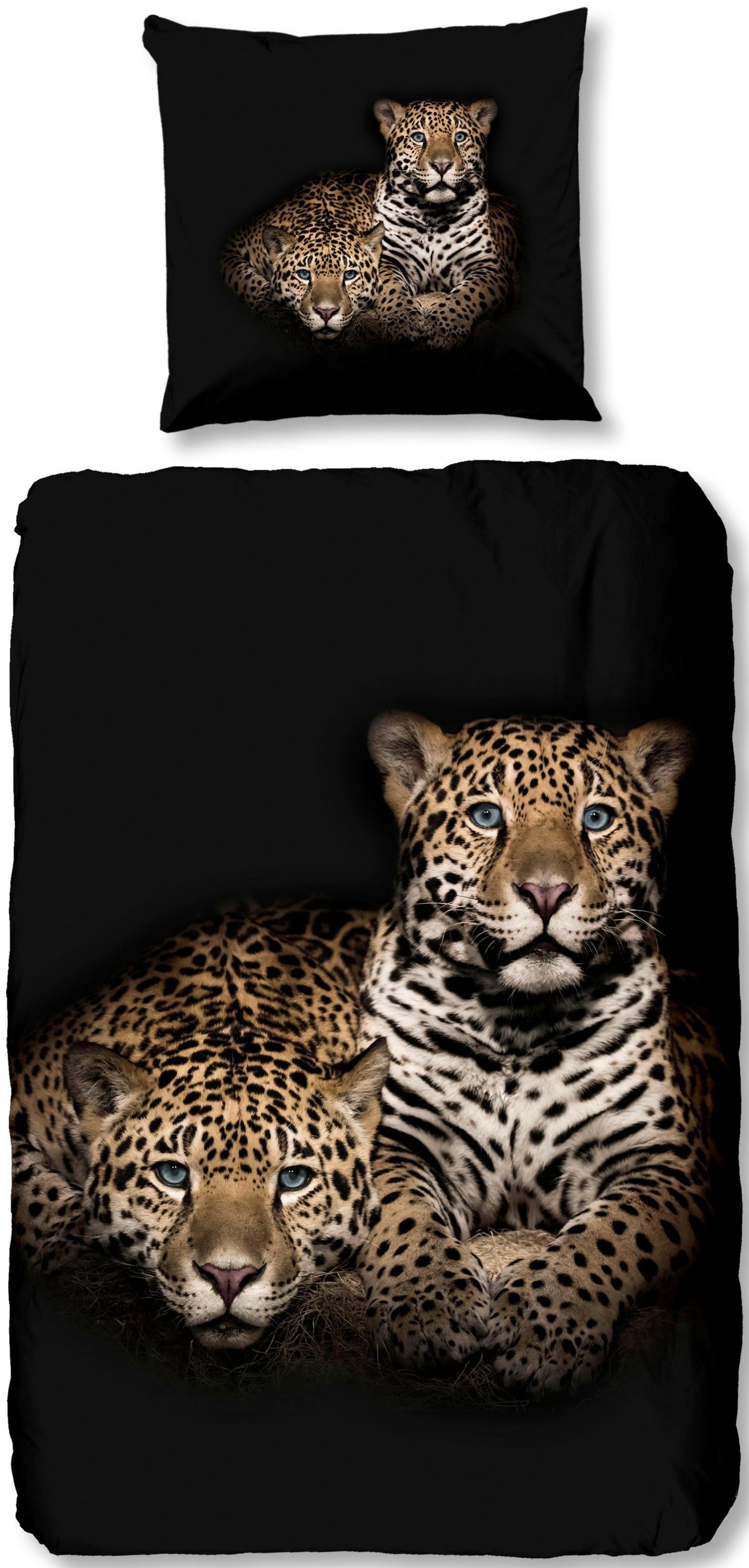 Wendebettwasche Leopard Good Morning Mit Leopard Motiv