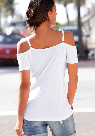 s.Oliver Beachwear Strandshirt mit gedruckter Bordüre