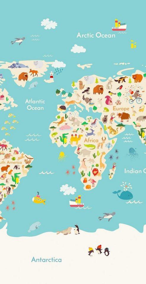 Strandtuch »Worldmap«, good morning, mit Weltkarte | OTTO