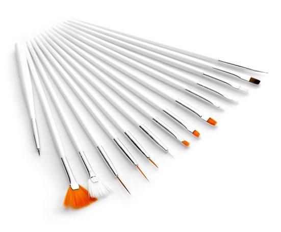 MyBeautyworld24 Nailart-Pinsel »15tlg. Pinsel-Set für Gelnägel / Acrylnägel Nagelmodellage Nail Art Pinsel Acryl UV Gel Pinselset Nagel Design«, 15 tlg.