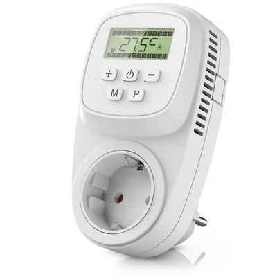 BEARWARE Steckdosen-Thermostat, max. 3680 W, 1-St., Steckdosen Thermostat digital programmierbar Temperaturregelung 5° – 35°C