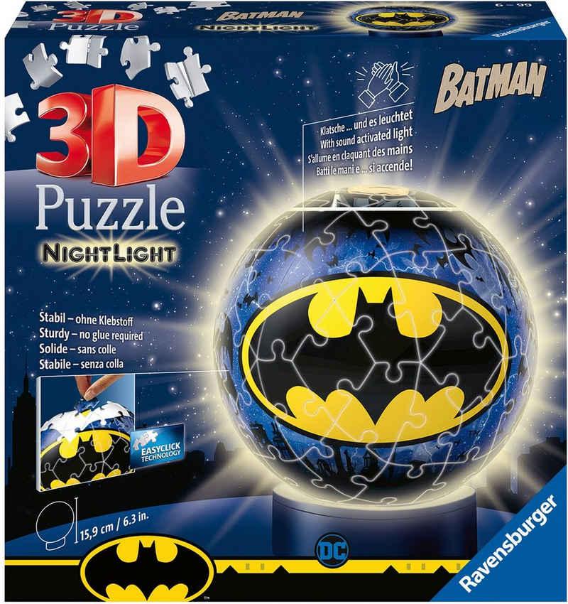 Ravensburger Puzzleball »Nachtlicht Batman«, 72 Puzzleteile, mit Leuchtmodul inkl. LEDs; Made in Europe, FSC® - schützt Wald - weltweit