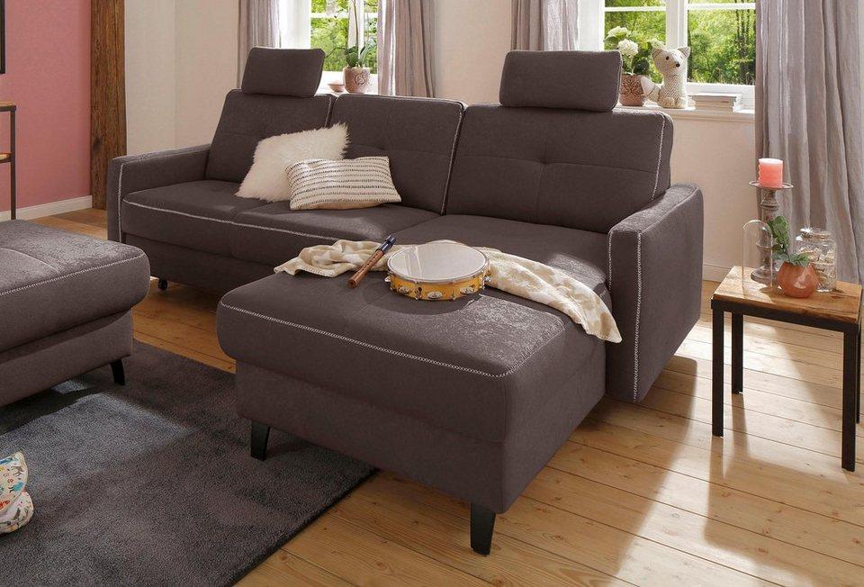 home affaire ecksofa antonio recamiere federkern. Black Bedroom Furniture Sets. Home Design Ideas