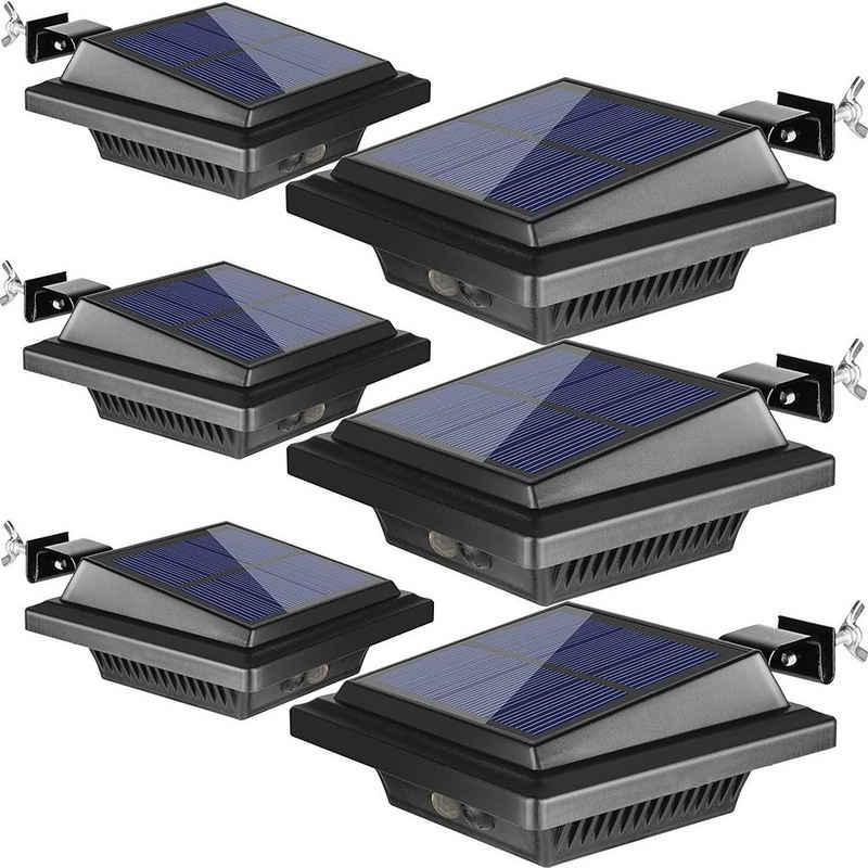 Home safety Dachrinnenleuchte »6Stk.Dachrinneleuchte Solarlampen für Außen mit Bewegungsmelder 40LEDs Warmweiß«