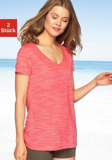 »beach T 2er Beachtime pack tlg Shirt« 2 packung Time shirt qgUP1UTO