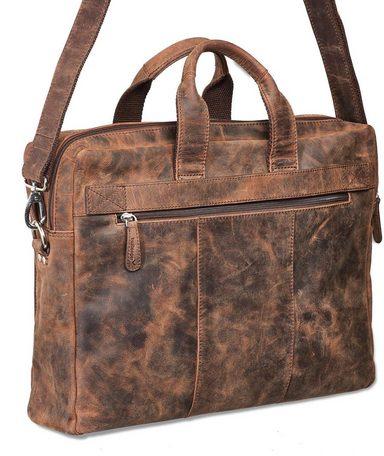 Braun« zoll »odin Mit Umhängetasche 15 Vintage Packenger Laptopfach Sf0Rp