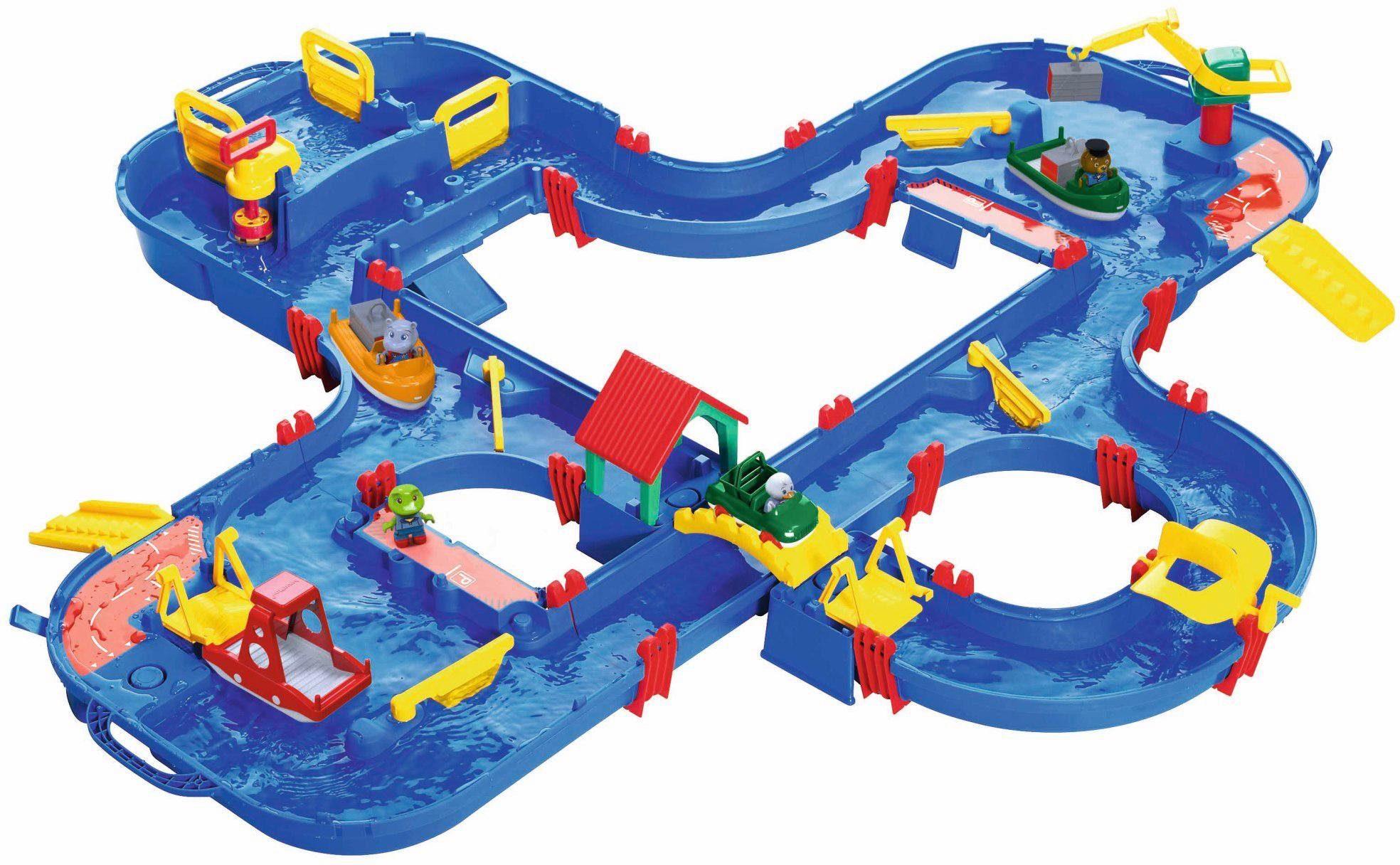 BIG Wasserbahn mit Booten, Amphibienauto und viel Zubehör, »AquaPlay AquaPlay'n Go«