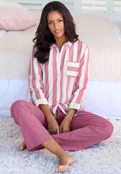 Vivance Dreams Pyjama im Hemdblusenlook