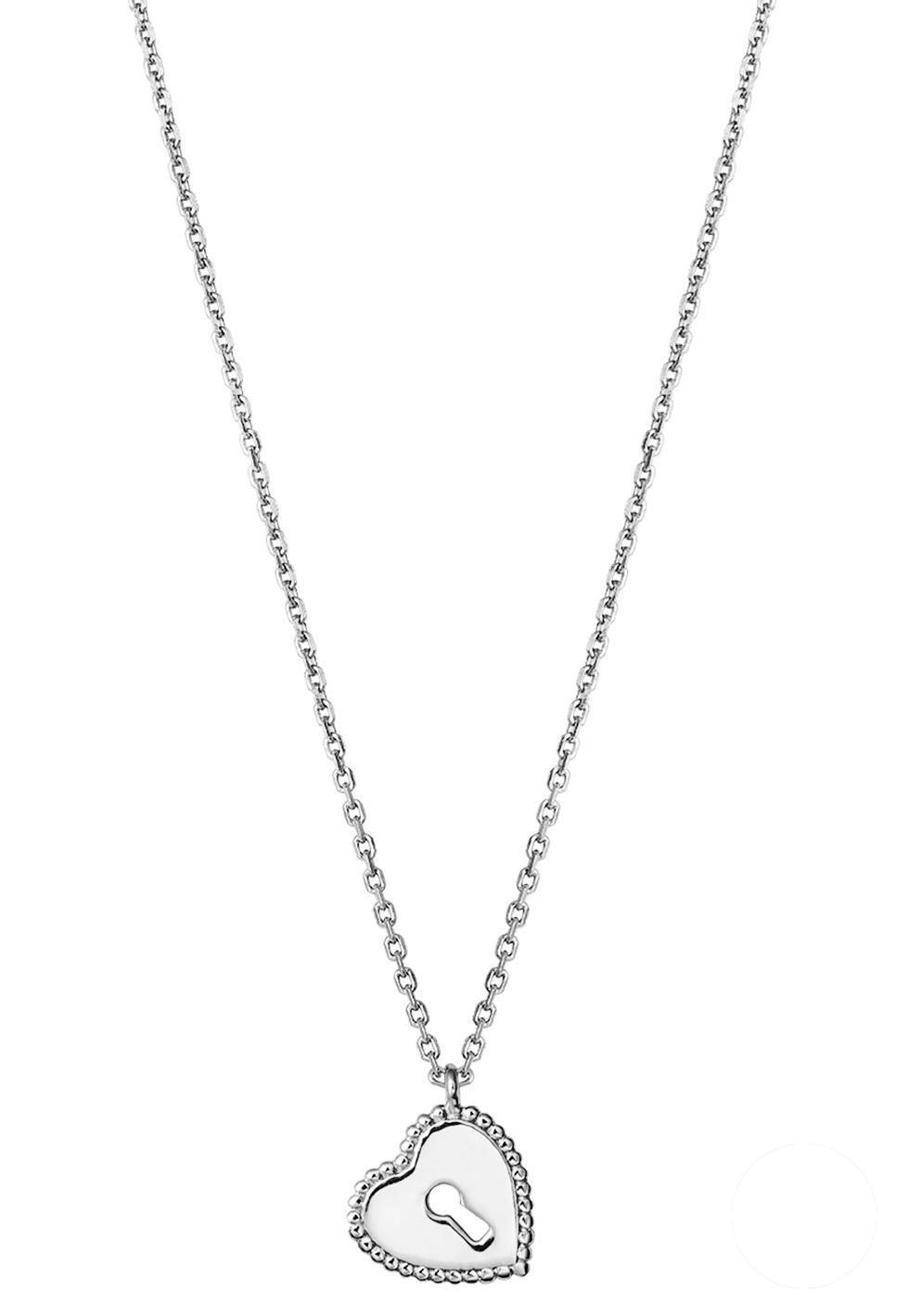 XENOX Kette mit Anhänger »Herz mit Schlüsselloch, Crazy Daisy, XS1637« | Schmuck > Halsketten > Herzketten | Silber | XENOX
