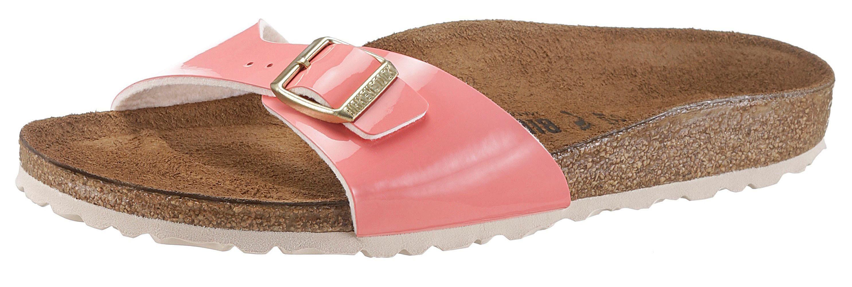 Birkenstock Pantolette, in schmaler Schuhweite und Lack-Optik, rosa, EURO-Größen, lachs
