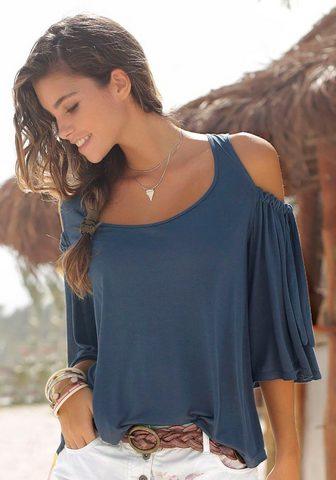 LASCANA Блуза с круглым вырезом