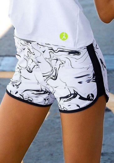 LASCANA ACTIVE Shorts »White Marble«