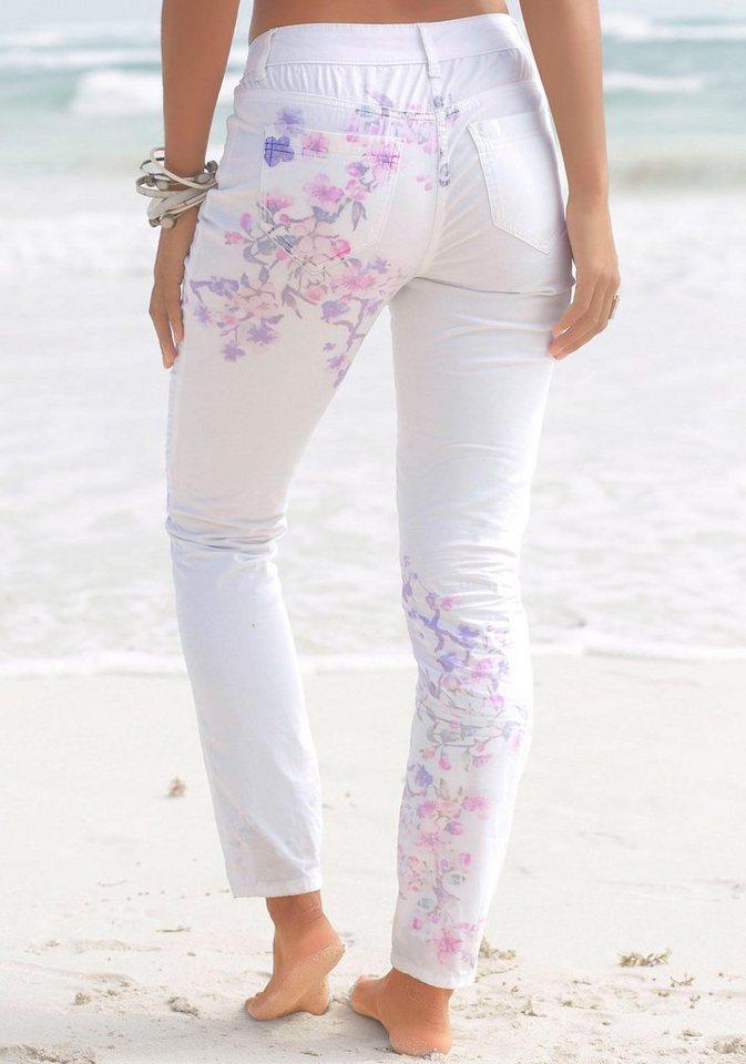 Damen LASCANA Stretchhose mit schmalem Bein weiß   08964000530245