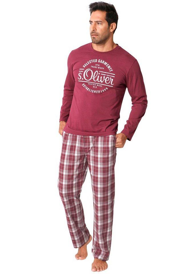 c73cd6f9fced1d s.Oliver Bodywear Pyjama, in langer Form mit Frontprint online ...