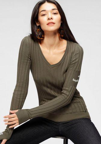 KangaROOS V-Ausschnitt-Pullover in plotis geripp...