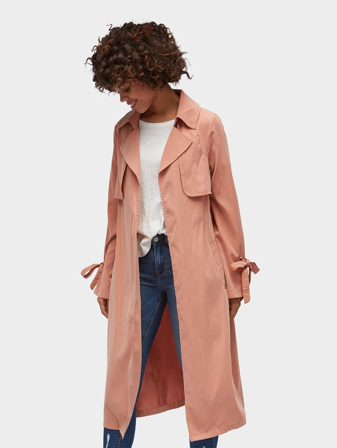 Tom Tailor Denim Trenchcoat »Trenchcoat mit Schleifen-Detail« | Bekleidung > Mäntel > Trenchcoats | Polyester | Tom Tailor Denim