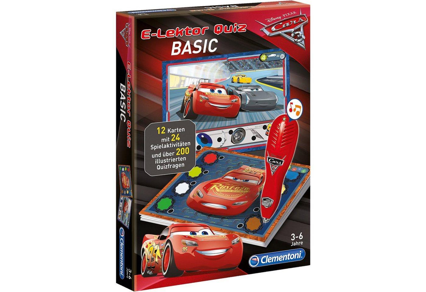 Clementoni® E-Lektor Quiz Basic - Cars 3