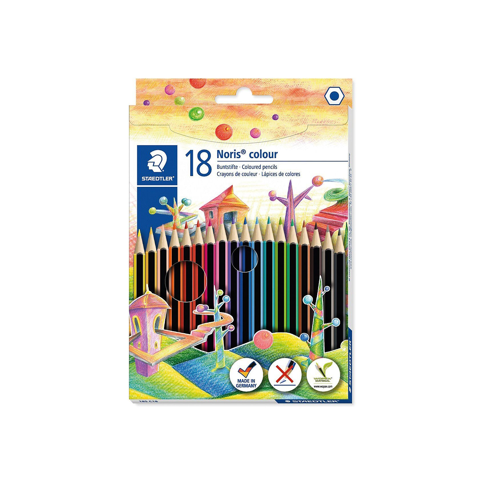 STAEDTLER Noris colour Buntstifte, 18 Farben