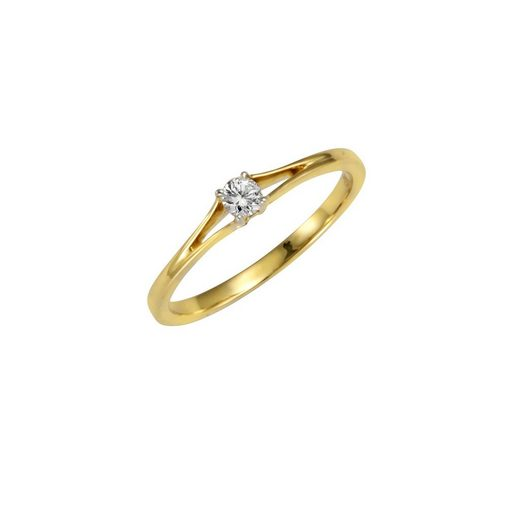 Diamonds by Ellen K. Ring »585/- Gold bicolor Brillant 0,10ct.«