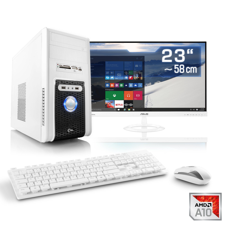 "CSL Multimedia PC Set | A10-7860K | Radeon R7 | 16 GB RAM | 23"" TFT »Sprint T4696 Windows 10 Home«"