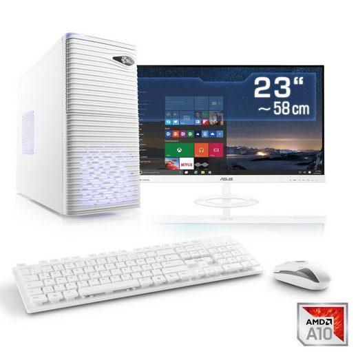 "CSL Multimedia PC Set A10-7860K | AMD R7 | 16GB RAM | SSD | 23"" TFT »Sprint T4962 Windows 10 Home«"