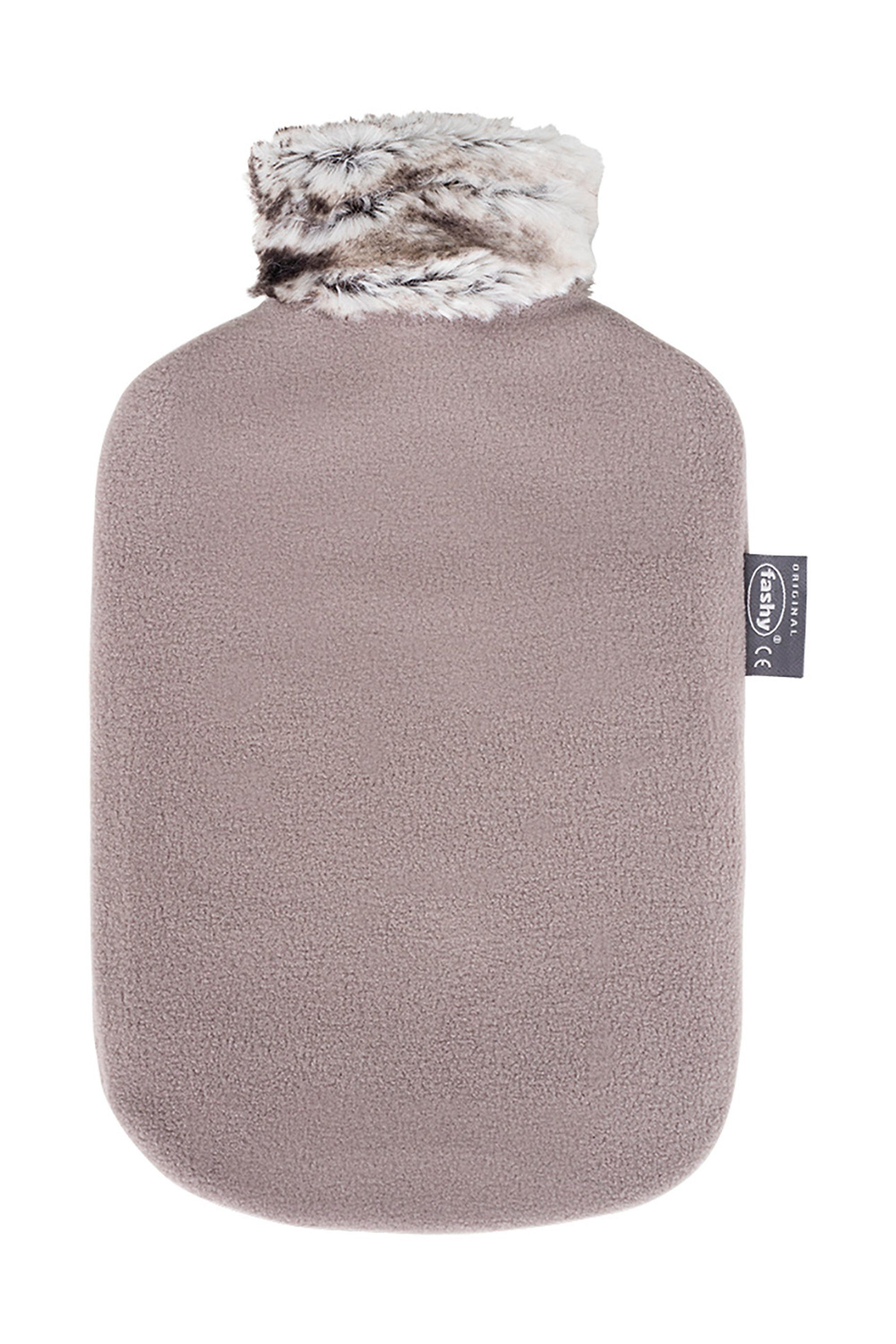 Fashy Wärmflasche mit Bezug »Fellimitatkragen«