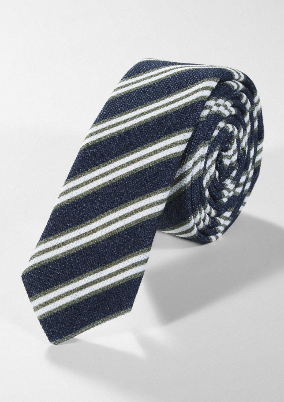 s.Oliver BLACK LABEL Krawatte mit Diagonalstreifen