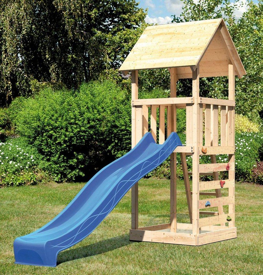 ABUKI Spielturm »Rosie 6«, BxT: 107x107 cm, mit Rutsche, Kletterwand