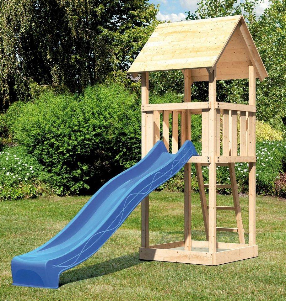 ABUKI Spielturm »Rosie 2«, BxT: 107x107 cm, mit Rutsche