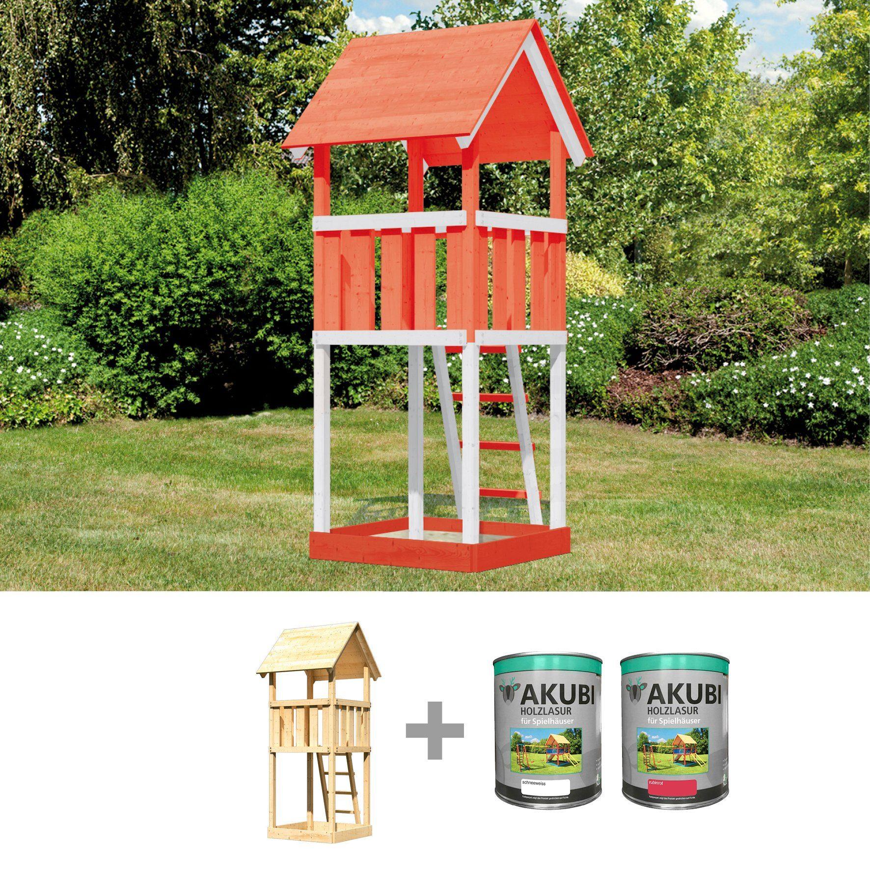 ABUKI Spielturm »Rosie 1«, BxT: 107x107 cm, inkl. Farbe