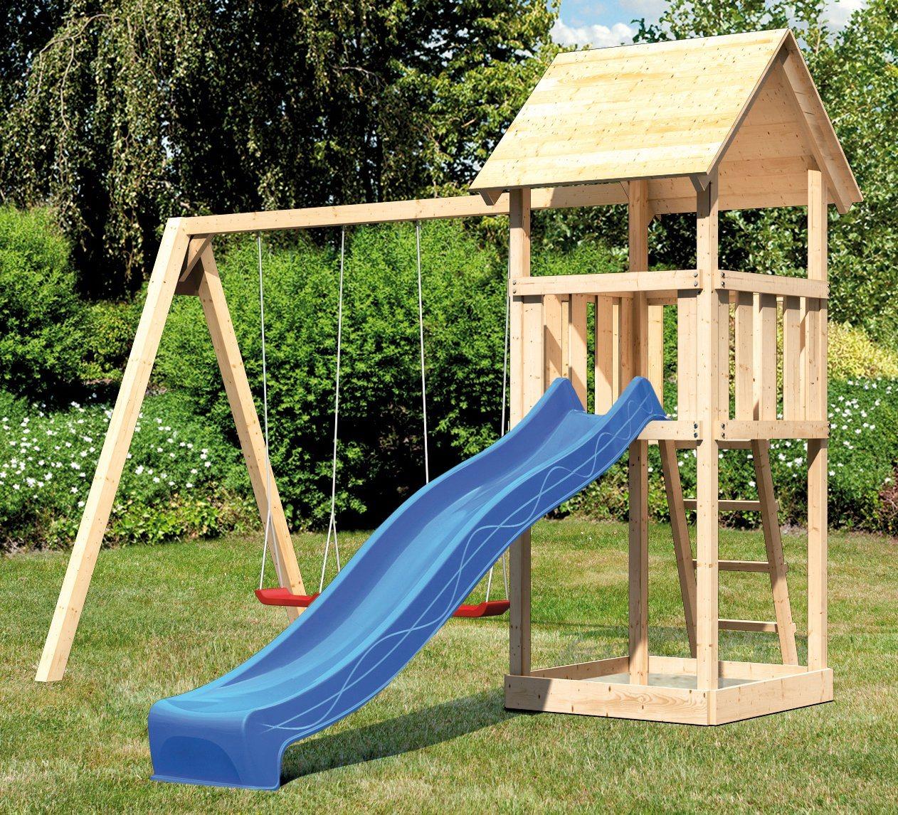 ABUKI Spielturm »Rosie C«, BxT: 382x183 cm, mit Doppelschaukel, Rutsche
