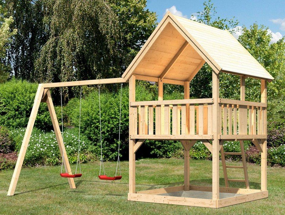 ABUKI Spielturm  Lenie B , BxT: 476x276 cm, mit Doppelschaukel online kaufen