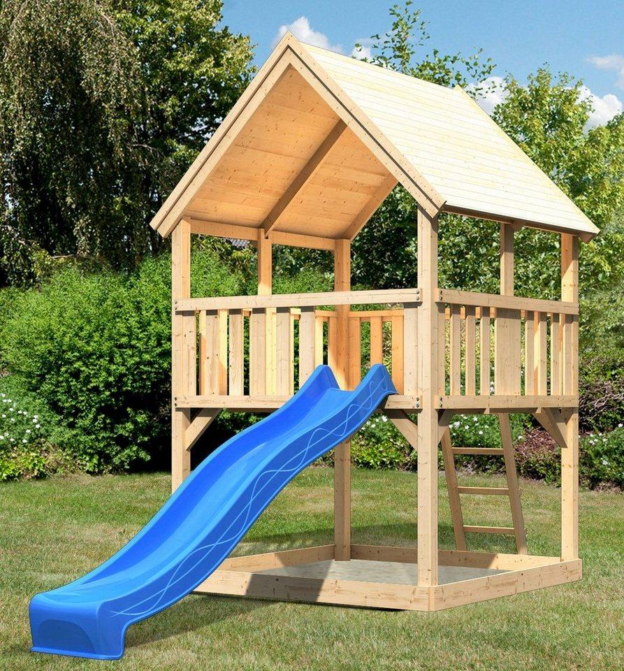 ABUKI Spielturm »Lenie 2«, BxT: 200x200 cm, mit Rutsche