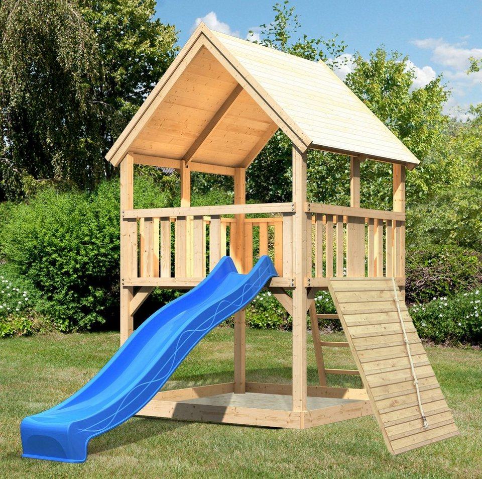 ABUKI Spielturm  Lenie 5 , BxT: 200x200 cm, mit Rutsche, Holzrampe online kaufen