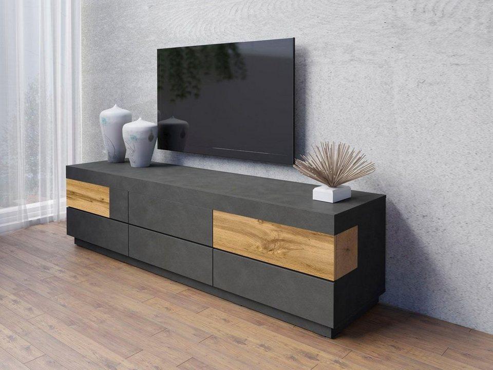 lowboard silke breite 206 cm online kaufen otto. Black Bedroom Furniture Sets. Home Design Ideas