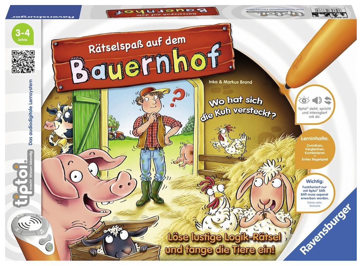 Ravensburger Spiel, »tiptoi® Rätselspaß auf dem Bauernhof«