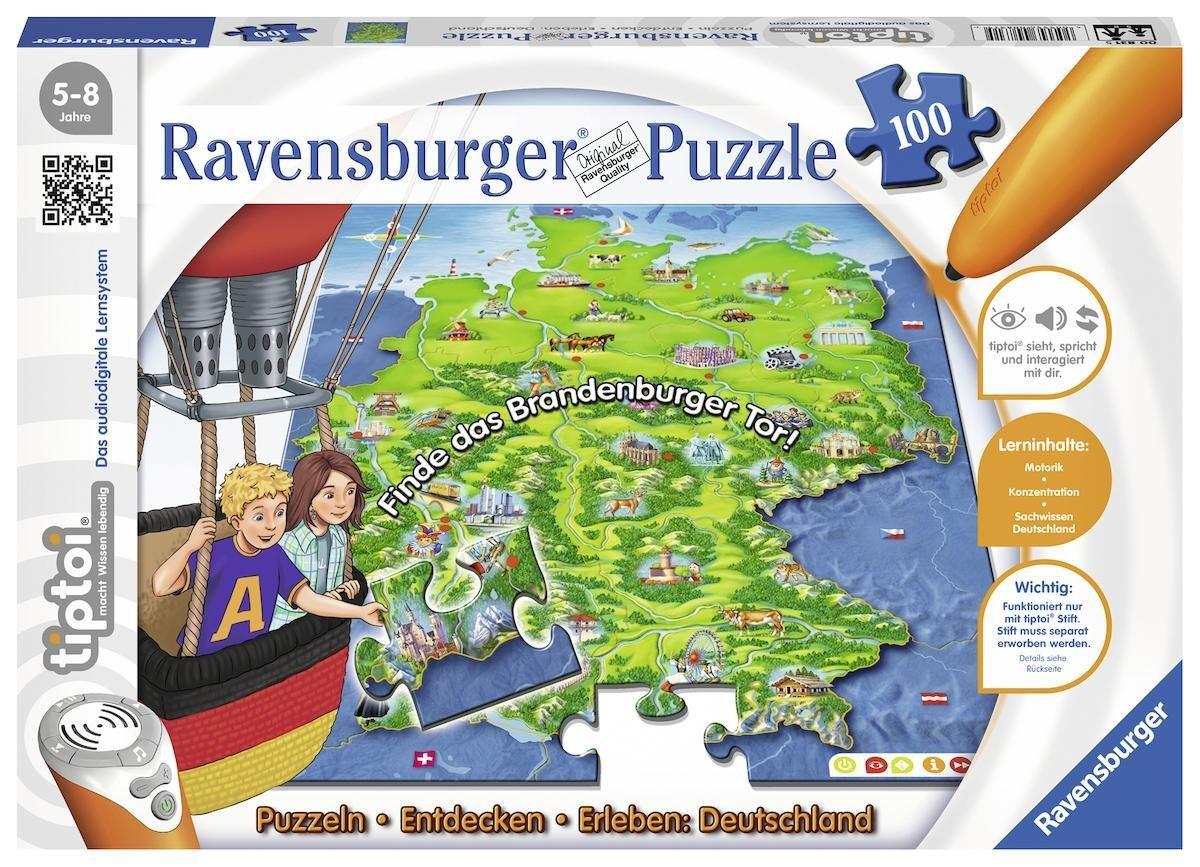 Ravensburger Puzzle, 100 Teile, »tiptoi® Puzzlen, Entdecken, Erleben: Deutschland«
