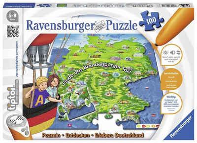 Ravensburger Puzzle »tiptoi® Puzzlen, Entdecken, Erleben: Deutschland«, 100 Puzzleteile, Made in Germany, FSC® - schützt Wald - weltweit