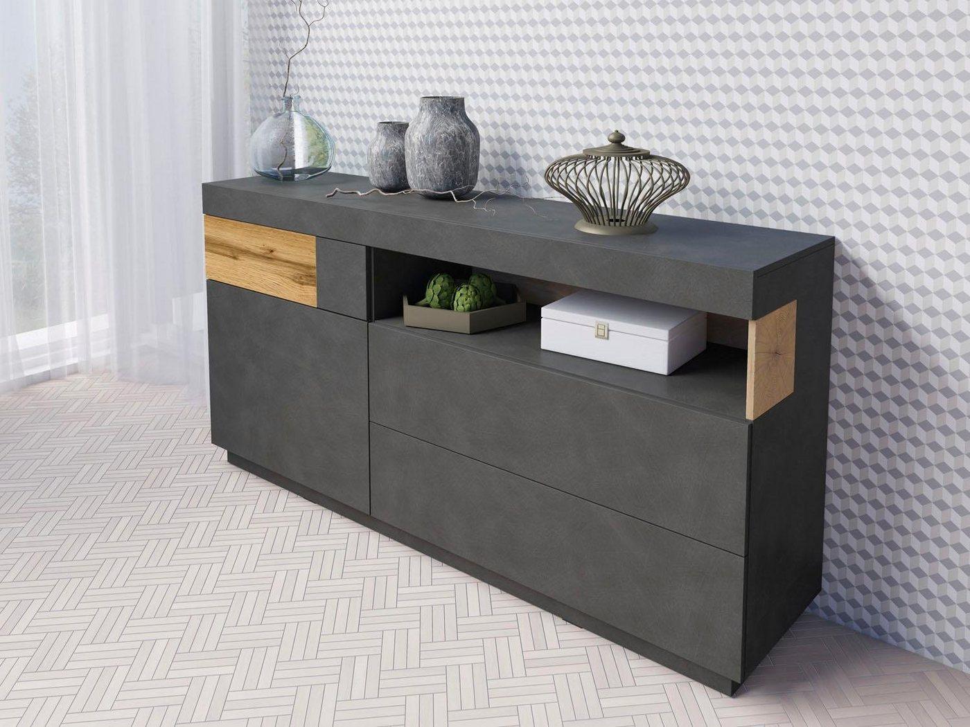 Sideboard SILKE  Breite 169 cm grau   05900488559937