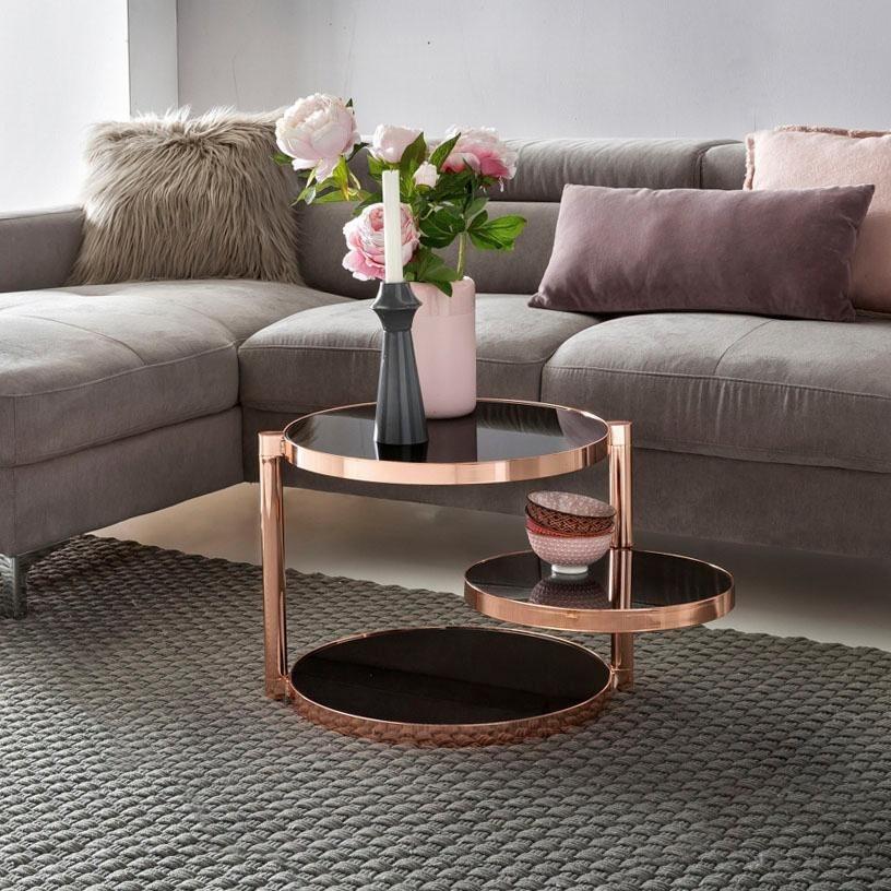 Home affaire beistelltisch revan mit drei runden for Designer tischplatten