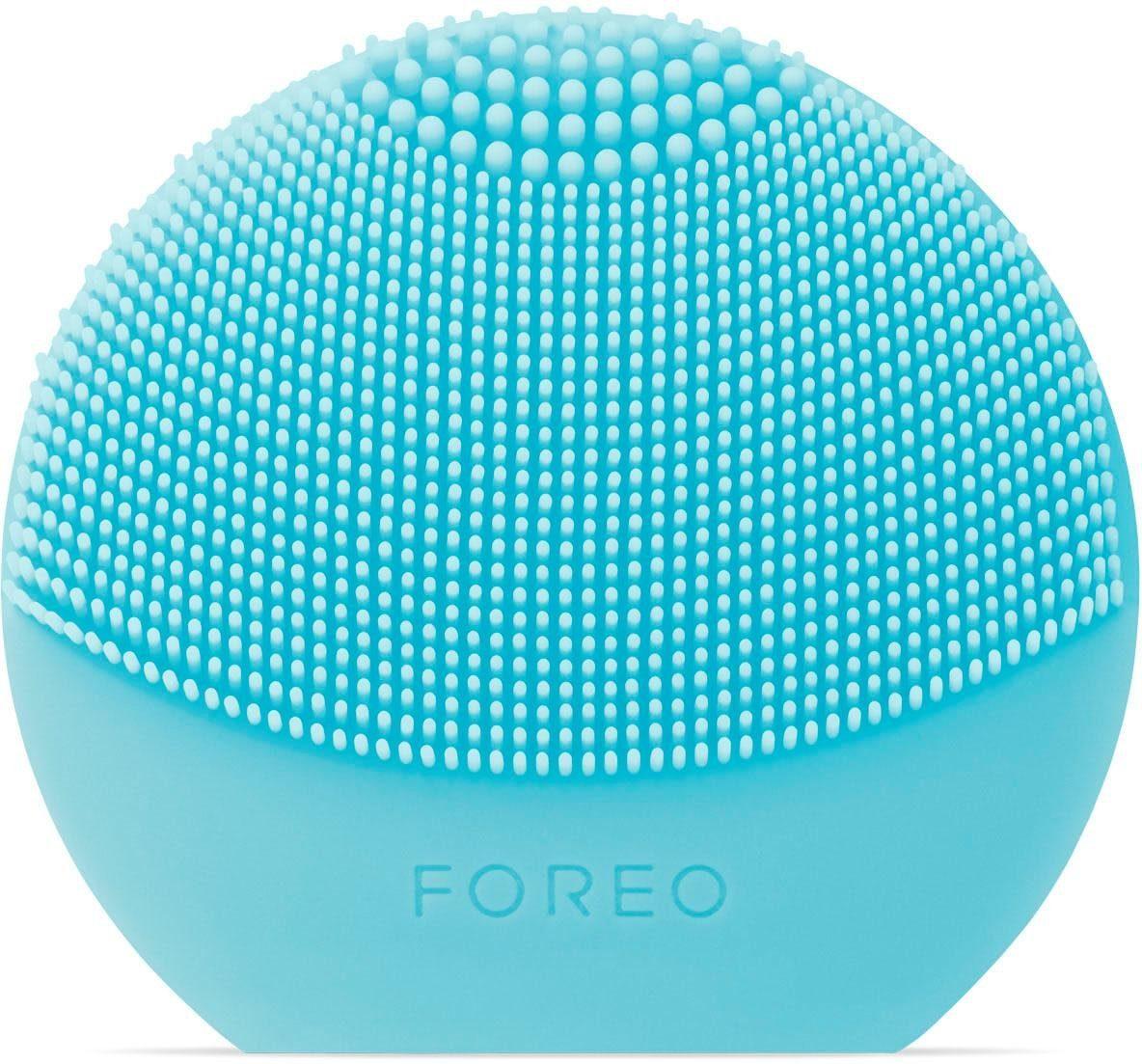 FOREO Gesichtsreinigungsbürste LUNA play plus Mint, für jeden Hauttyp geeignet, austauschbare Batterie